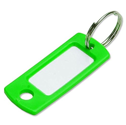 Lucky Line Key Tag with Ring; Green; 50 Per Bag -