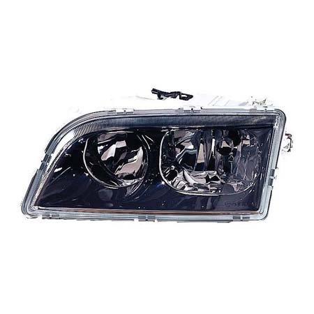Fits Volvo S40/V40 2000-2002 Headlight Assembly Driver Side Black Bezel