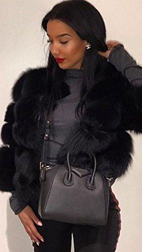 Chaud Apparel Fourrure Fluffy Automne Blouson Femme Femme Manteau Simplee Hiver Veste Fausse qZI7wCPxRx