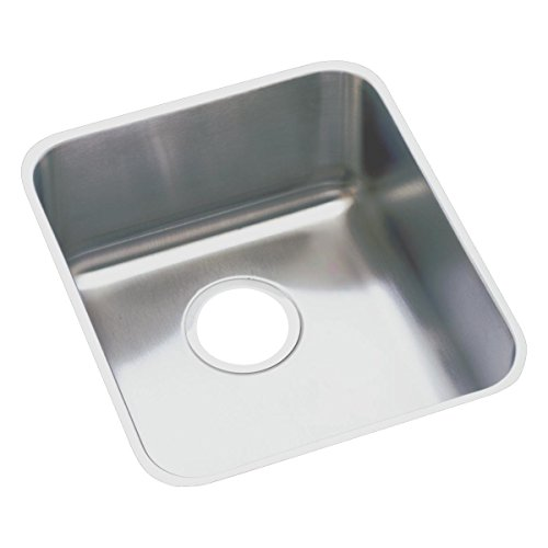 Elkay Lustertone ELUHAD161655 Single Bowl Undermount Stainless Steel ADA Kitchen Sink (Elkay Lustertone Bar Sinks)