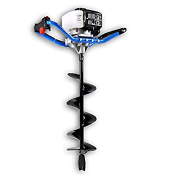 Image of Landworks Earth Auger Power Head Heavy Duty 3HP 52cc 2 Stroke Gas Engine w/Steel 8'x30' Bit w/Fishtail One Man Post Hole Digger for Planting, Earth Burrowing/Drilling & Fences EPA/CARB Compliant Home and Kitchen