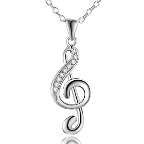 YJYdada Fashion Jewelry Chic Treble G Clef Music Note Charm Pendant Necklace Gift Musica