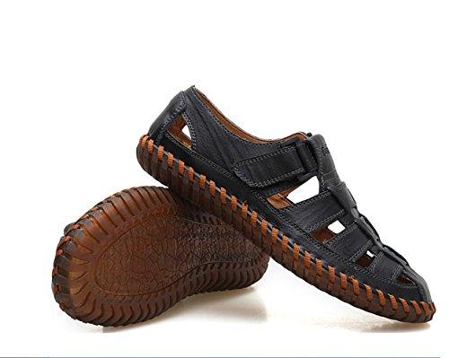 Noir Cool randonnée Respirant air pour Plein Marche Respirant Sandales Mode de en Sandales de Cuir SandalsZHANGM LIANGXIE d'été et de Hommes en Occasionnels Conduite Chaussures qwOSUw80