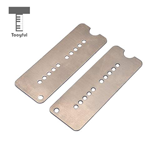 Value-5-Star - 2 Pieces Cupronickel Neck+Bridge Pickup Baseplates for Electric Guitar P90 Soap Bar Pickup Accessory