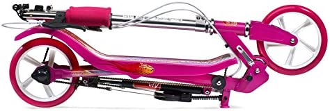 SpaceScooter (X580) - Patinete para Niñas (Universal, Asfalto, Rosa, Poliuretano)