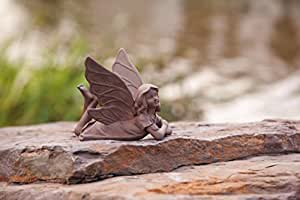 "5.25"" Inspirational Statuary Whimsical Laying Fairy Outdoor Garden Figure"