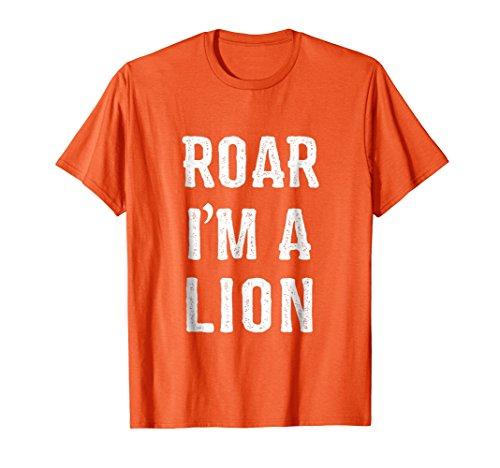 Mens I'm a Lion Halloween Costume T Shirt 2XL Orange