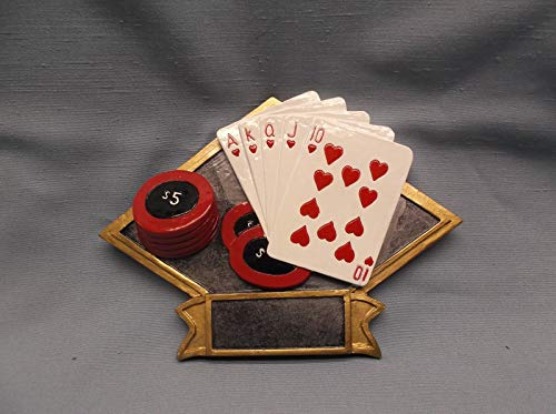 Poker Trophy Resin Diamond Plaque Large Size DPS29