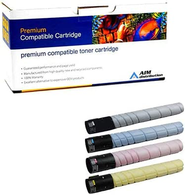 TS-3690MP - Generic BK//C//M//Y AIM Compatible Replacement for Muratec MFX-C2590//3090//3690 Toner Cartridge Combo Pack