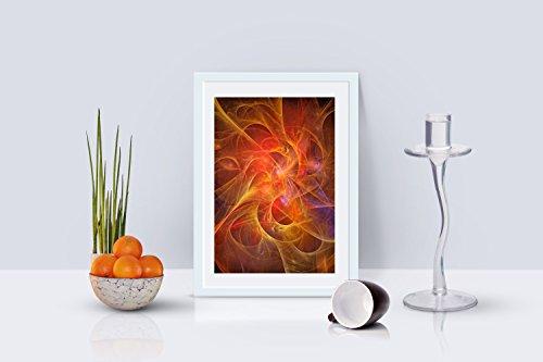 Orange Universe - Abstract art by Ed Warick Fine Art