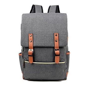8dbb98256a BOAOGOS Daypacks Occasionnels 15 cm Toile Vintage Femmes Sacs à dos pour  adolescentes gros sacs d'école ...