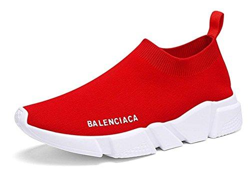 Damessloopschoenen Gratis Transformeren Flyknit Mode Sneakers Van Jiye Rood
