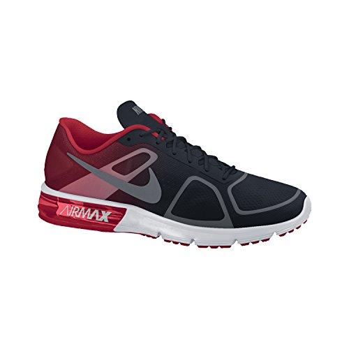 Sist Nike Air Max Nike Hombres Zapato Corriente Del Negro / Mtlc Cl-juegos Unvrsty Rd-cl 6,5