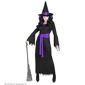 ff54c1eda460 Lively Moments Damenkostüm Hexe mit lila Kragen / Hexenkostüm für Frauen /  Kleid mit Hut / Halloween Kostüm Gr. XXL = 50/52