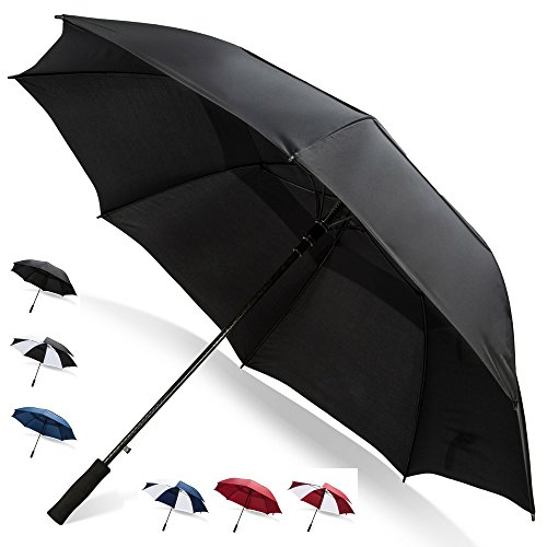(68 Inch Golf Umbrella (Black, 1-Pack) Golf Accessories for Men Golf Bag Heavy Duty Umbrella Wedding Umbrellas for Rain Wind Resistant Umbrellas)