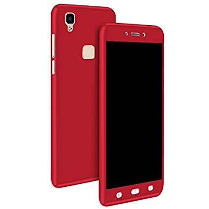 new product 12183 5a7ff Cafune- Vivo V3 360 Degree All-round Front And Back Red: Amazon.in ...