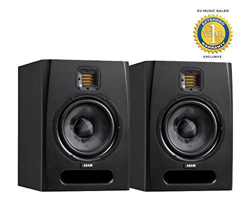 Adam Audio F7 2-Way Active Nearfield Studio Monitor (Pair) with 1 Year Free Extended Warranty
