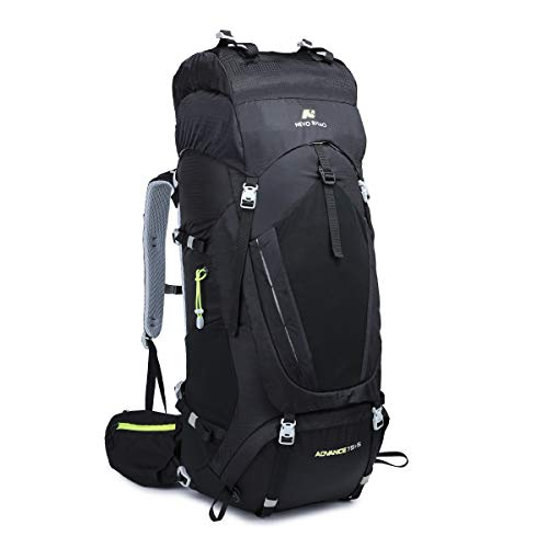 NEVO Rhino 75/80L Internal Frame Hiking Backpack with Rain Cover,Whistle Buckle, lightweight daypack for Backpacking,Camping ...