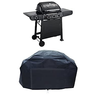 Char-Broil Quickset 3-Burner Gas Grill + Cover