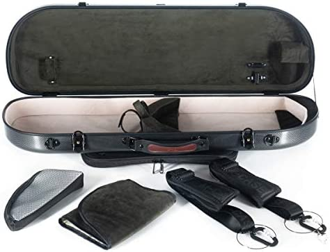 Estuche para violín fibra Street 4/4 point black - olive M-Case + Music bag: Amazon.es: Instrumentos musicales