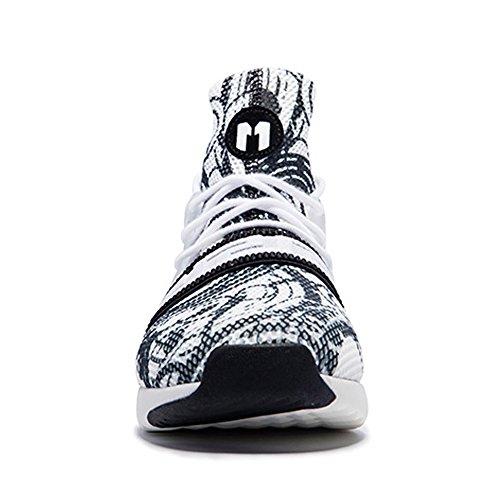 Onemix Damesschoenen Ademende Meisjessport Sneakers Zwart / Wit