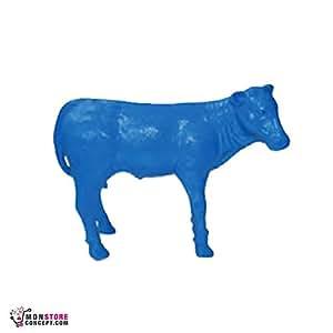 STATUETTE Becerro azul, h.73cm l.92cm-statuette-sculpture decoración interior/exterior–Reproduction–animales