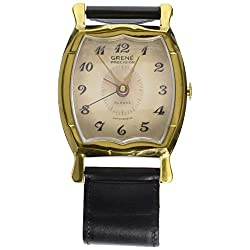 Uttermost Wristwatch Alarm Square Grene Wall Clock