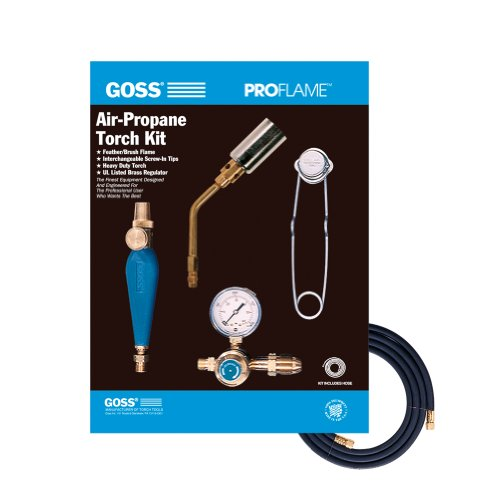 Goss KP-105 Air Propane Soldering Torch Kit LP Regulator and BP-5 Brush Tip (Propane Soldering Torch Kit compare prices)