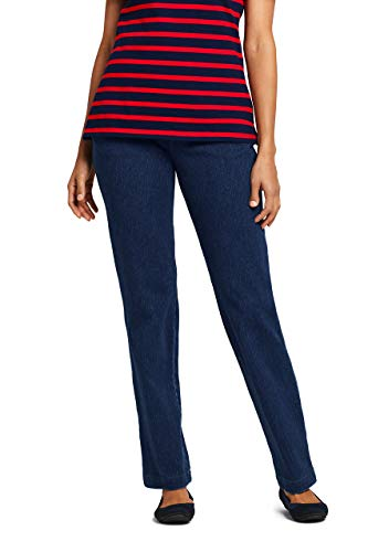 Lands End Tall Jeans - Lands' End Women's Sport Knit Denim High Rise Elastic Waist Pull On Pants