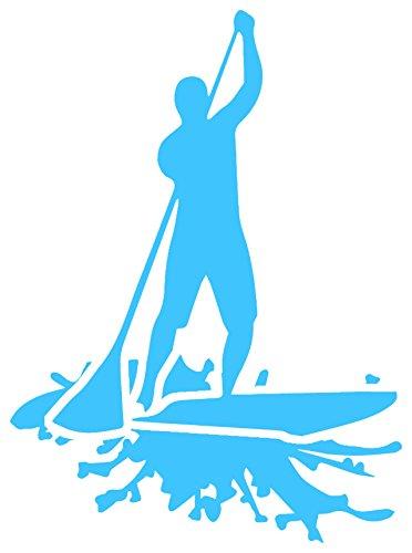 Stand Up Paddle Board SUP Decal Sticker (Aqua) by NALU - standup paddleboard - Solstice Eyewear