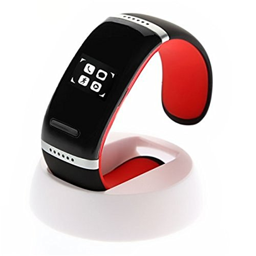 BMT L12S OLED Touch Screen Bluetooth 3.0 Bracelet Wristwatch Smart Watch Wristband Phone Mate with Speaker Call ID Display / Answer / Dial / Anti-lost Sports Pedometer for IOS iPhone 4 4s 5 5s 5c Samsung Galaxy s3 s4 Note 2 Note 3 Note 4 Blackberry HTC LG Sony Motorala Nokia and Other Android Smart Phones (Red)