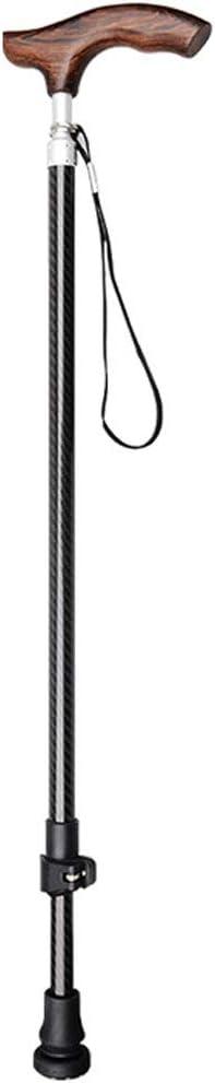NYDZ Silla de Ruedas Andador Muletas para Personas Mayores Bastón telescópico Ligero Bastón Antideslizante con Mango de Madera Maciza
