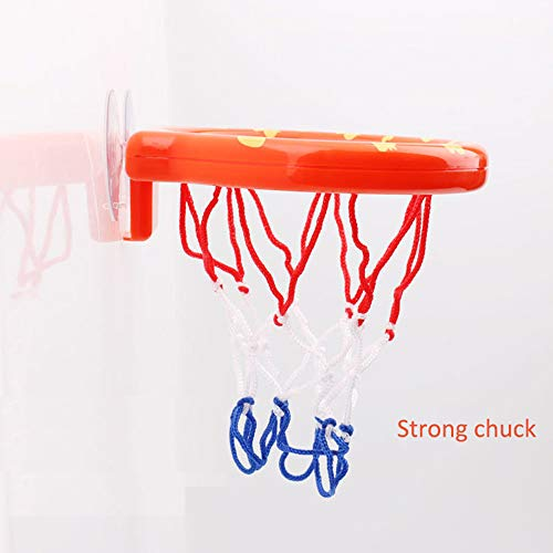 Deerbb Baby Bath Toys Basketball Hoop & Mini Balls Set for Toddlers Boys Girls, Bathtub Playsets for Kids 1 Years Old+