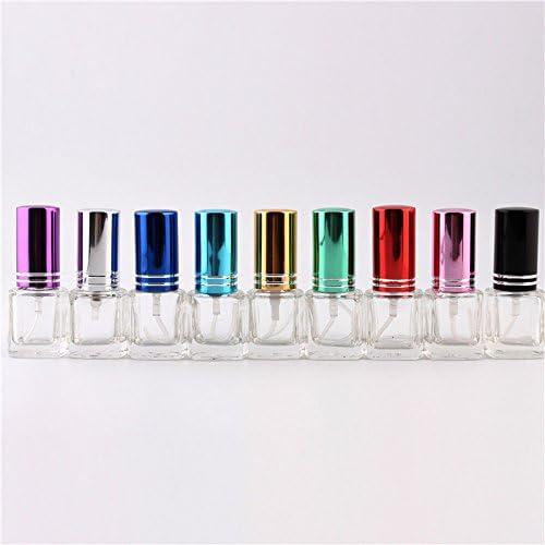 Vaole (TM) 9Color de vidrio retornables 10 / Lote 4 ml botella de perfume de cristal, cristal de perfume frasco, botella de perfume 5ml 4 cc port¨¢til: Amazon.es: Hogar