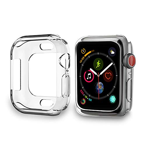 PULEN AppleWatchSeries4Case 40mm,TPU Case Explosion-Proof Anti-Fall Ultra Clear AppleWatchSeries4 40mm Version 2018 (2 Packs)