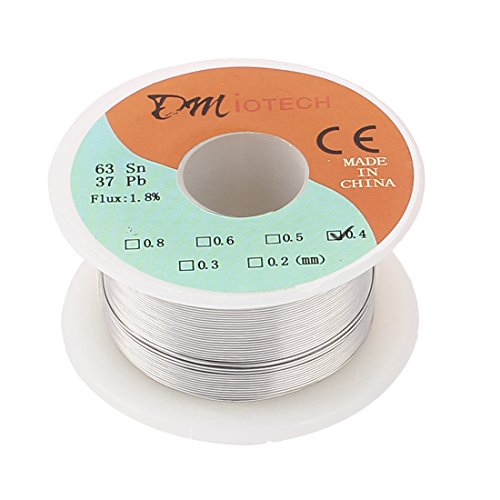uxcell 35g 0.4mm Rosin Core Solder Tin Lead Solder Wire 63/37 for Electrical Soldering - Gas Welding Accessories - Amazon.com