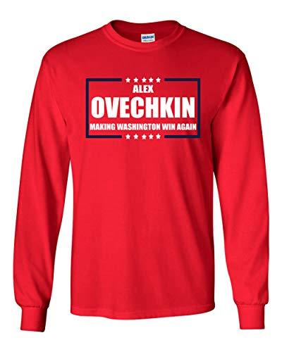 (Long Sleeve RED Washington Ovechkin Making Washington Win Again t-Shirt Adult)