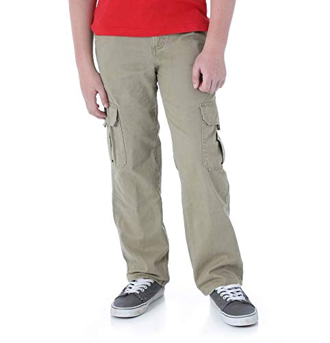 - Wrangler Husky or Regular Boys Classic Cargo Twill Pant (Tan, 4 Regular)