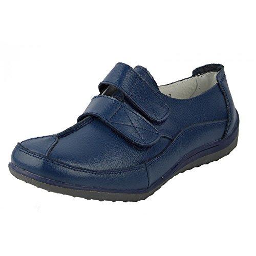 Kick facile chiusura walking in scarpe cinturino pelle Donna fissare Ladies Footwear soft Marina touch rTwrYA