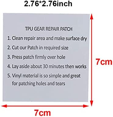 Backpacks IKAAR Tent Repair Tape Dinghies and Inflatable Mattresses Waterproof Tape 10 Pcs TPU Tent Tape Transparent Tenacious Flex Patches Repair Sticker for Camping Tents Awnings