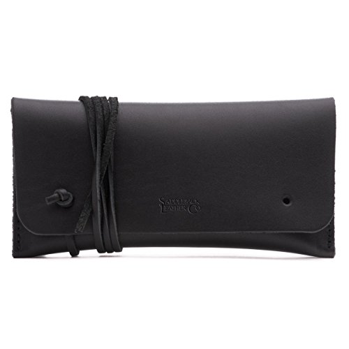Saddleback Leather Sunglass and Pen/Pencil Case - 100% Full Grain Leather Bag 100 Year Warranty