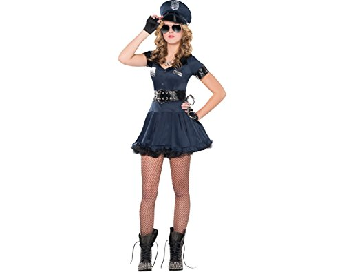 (AMSCAN Locked N Loaded Cop Halloween Costume for Teen Girls, Adult Large with Included)