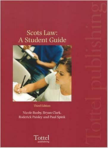 Scots Law: Student Guide by Nicole Busby (2006-08-31)