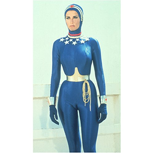 Lynda Carter 8 Inch x 10 Inch PHOTOGRAPH Wonder Woman (TV Series 1975 - 1979) Wearing Blue Wet Suit Pose 1 - Wetsuit Wearing