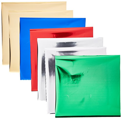 Leaf Effect - PEBEO 766580 Gedeo Mirror Effect Leaves Adhesive Sheet, Assorted Colors