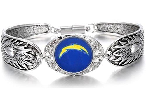 Devastating Designs Women's Sterling Silver San Diego Chargers Bracelet Football Gift