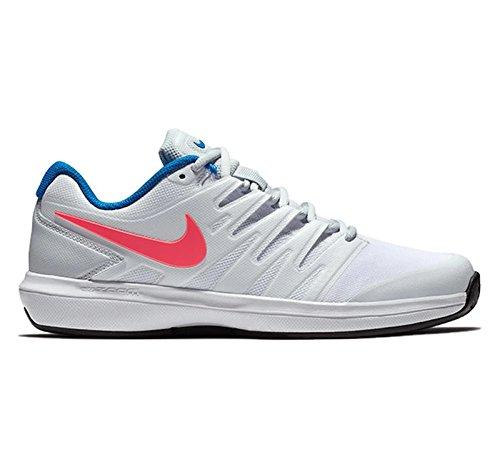 Nike Womens Air Zoom Scarpe Da Tennis Di Prestigio Argilla - Bianco / Lava Calda / Platino Puro / Nebulosa Blu
