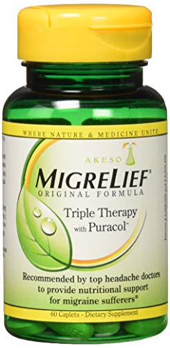 Migrelief Original Formula, Triple Therapy with Puracol, 60 Caplets
