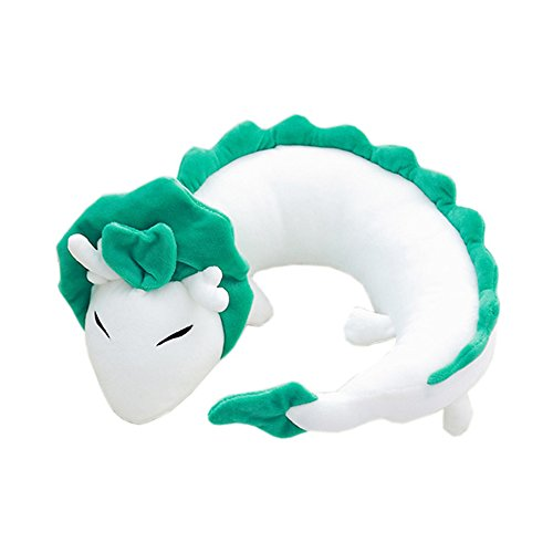 Price comparison product image Cartoon anime U-shaped pillow, small white dragon doll, cool, soft