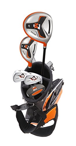 Precise M7 Junior Complete Golf Club Set for Children Kids - 3 Age Groups - Right Hand (Ages 9-12 Orange, Right Hand)
